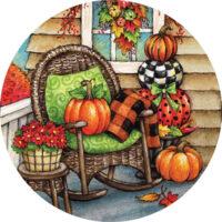 Fall Porch Decorative Accent Magnet