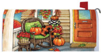 Fall Porch Decorative Mailbox Makeover