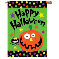 Happy Halloween Reversible Decorative House Flag