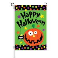 Happy Halloween Reversible Decorative Garden Flag