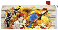 Fall Flowers And Birds Decorative Mailbox Makeover