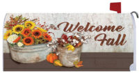 Sunflowers And Cotton Fall Decorative Mailbox Makeover