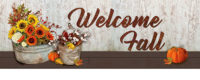 Sunflowers And Cotton Fall Decorative Signature Sign