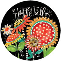 Happy Fall Flowers Decorative Accent Magnet