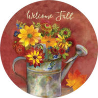 Fall Watering Can Decorative Accent Magnet