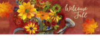 Fall Watering Can Decorative Signature Sign