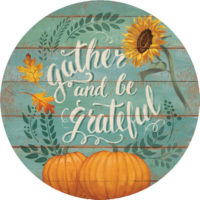 Gather And Be Grateful Thanksgiving Decorative Accent Magnet