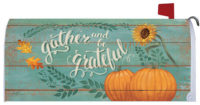 Gather And Be Grateful Thanksgiving Decorative Mailbox Makeover