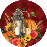 Pumpkin Lantern Fall Decorative Accent Magnet
