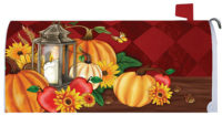 Pumpkin Lantern Fall Decorative Mailbox Makeover
