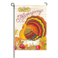 Pumpkin Turkey Thanksgiving Reversible Decorative Garden Flag