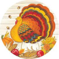 Pumpkin Turkey Thanksgiving Decorative Accent Magnet