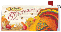 Pumpkin Turkey Thanksgiving Decorative Mailbox Makeover