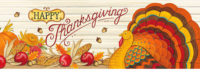 Pumpkin Turkey Thanksgiving Decorative Signature Sign