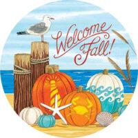 Coastal Pumpkins Fall Decorative Accent Magnet