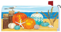 Coastal Pumpkins Fall Decorative Mailbox Makeover