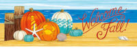 Coastal Pumpkins Fall Decorative Signature Sign