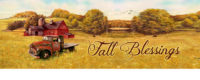 Scarecrow And Truck Fall Decorative Signature Sign