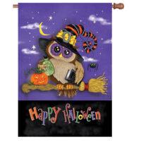 Halloween Owl Reversible Decorative House Flag