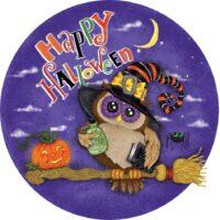 Halloween Owl Decorative Accent Magnet