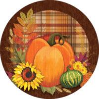 Pumpkin And Plaid Fall Decorative Accent Magnet