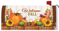 Pumpkin And Plaid Fall Decorative Mailbox Makeover