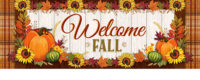 Pumpkin And Plaid Fall Decorative Signature Sign