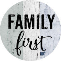 Family First Farmhouse Collection Decorative Accent Magnet