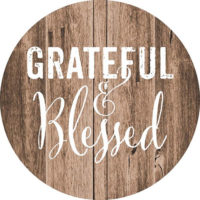 Grateful And Blessed Farmhouse Collection Decorative Accent Magnet