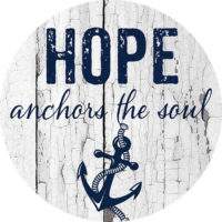 Hope Anchors The Soul Farmhouse Collection Decorative Accent Magnet