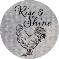 Rise And Shine Farmhouse Collection Decorative Accent Magnet