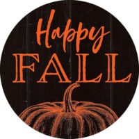 Happy Fall Pumpkin Farmhouse Collection Decorative Accent Magnet
