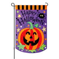 Halloween Pumpkin Decorative Applique Reversible Garden Flag