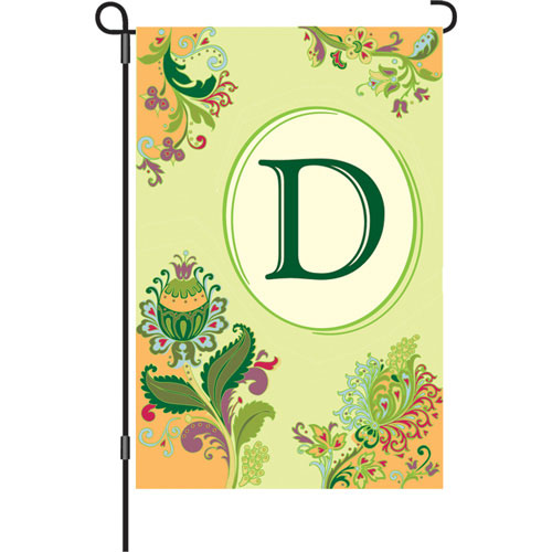Monogram Letter D Spring Decorative Garden Flag