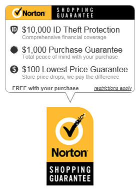 Your transaction is secure at HouseAndGardenFlags.com with Norton Shopping Guarantee