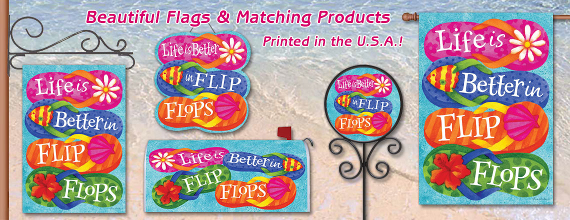 summer flags, mailboxes and magnets from HouseAndGardenFlags.com